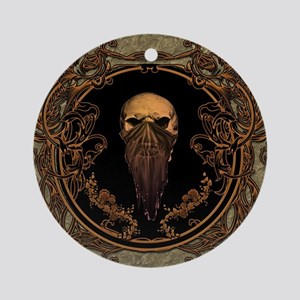 Amazing skull on a frame Round Ornament