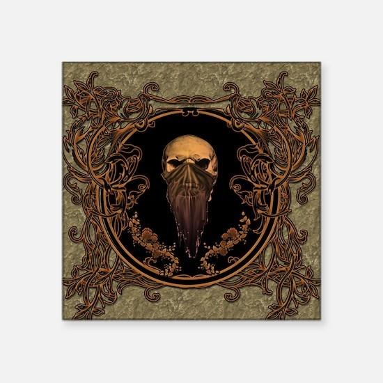 Amazing skull on a frame Sticker