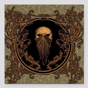 """Amazing skull on a frame Square Car Magnet 3"""" x 3"""""""