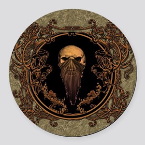 Amazing skull on a frame Round Car Magnet