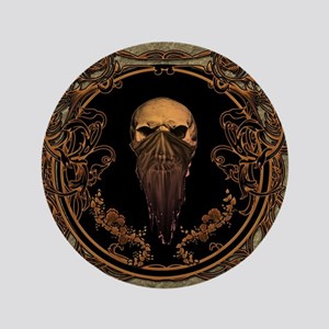 Amazing skull on a frame Button