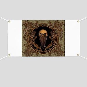 Amazing skull on a frame Banner