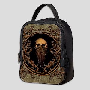 Amazing skull on a frame Neoprene Lunch Bag