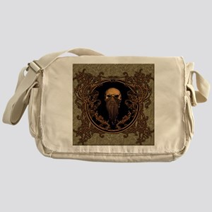 Amazing skull on a frame Messenger Bag