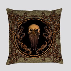 Amazing skull on a frame Everyday Pillow