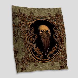 Amazing skull on a frame Burlap Throw Pillow