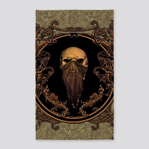 Amazing skull on a frame Area Rug