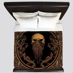 Amazing skull on a frame King Duvet