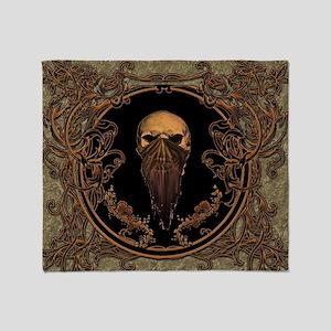 Amazing skull on a frame Throw Blanket
