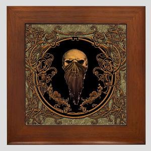 Amazing skull on a frame Framed Tile