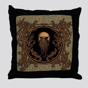 Amazing skull on a frame Throw Pillow