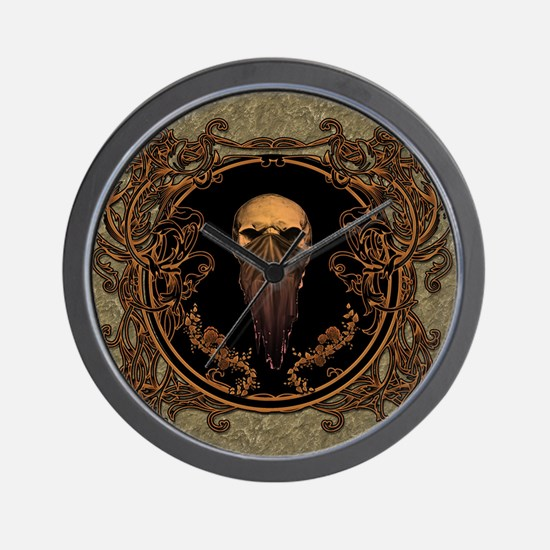 Amazing skull on a frame Wall Clock