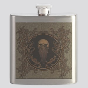 Amazing skull on a frame Flask
