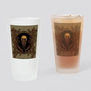 Amazing skull on a frame Drinking Glass