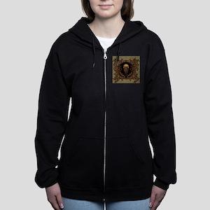 Amazing skull on a frame Women's Zip Hoodie