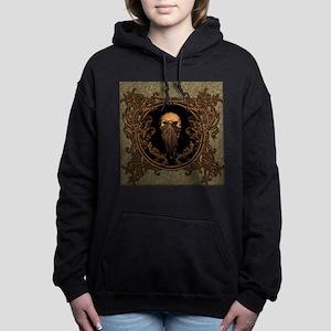 Amazing skull on a frame Women's Hooded Sweatshirt