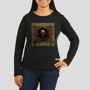 Amazing skull on a frame Long Sleeve T-Shirt