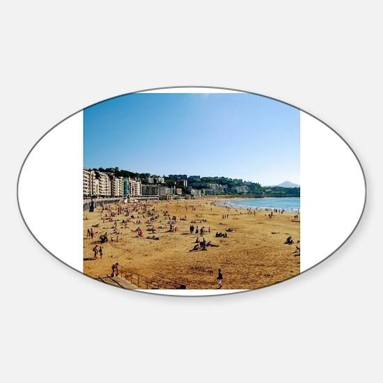 Funny San sebastian Sticker (Oval)