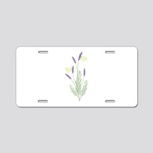 Lavender Butterfly Aluminum License Plate