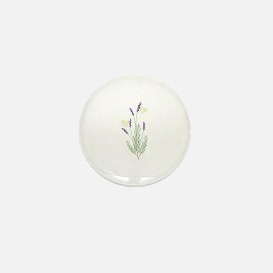 Lavender Butterfly Mini Button