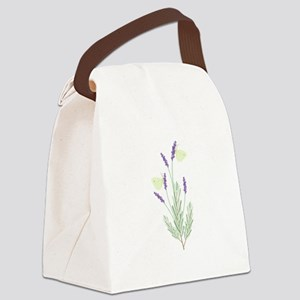 Lavender Butterfly Canvas Lunch Bag