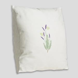 Lavender Butterfly Burlap Throw Pillow