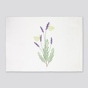 Lavender Butterfly 5'x7'Area Rug
