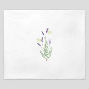 Lavender Butterfly King Duvet