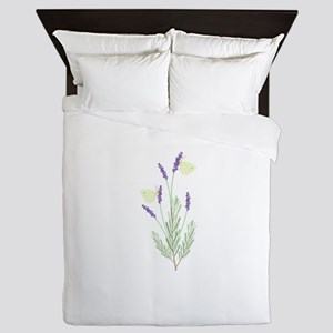 Lavender Butterfly Queen Duvet
