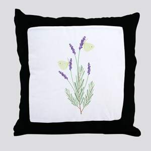 Lavender Butterfly Throw Pillow