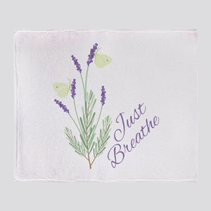 Just Breathe Throw Blanket