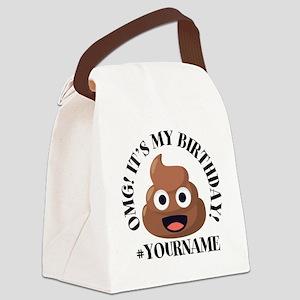 Poop Emoji Birthday Canvas Lunch Bag