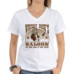 Whisky Dick's Saloon Women's V-Neck T-Shirt