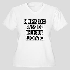 Hapkido Passion R Women's Plus Size V-Neck T-Shirt