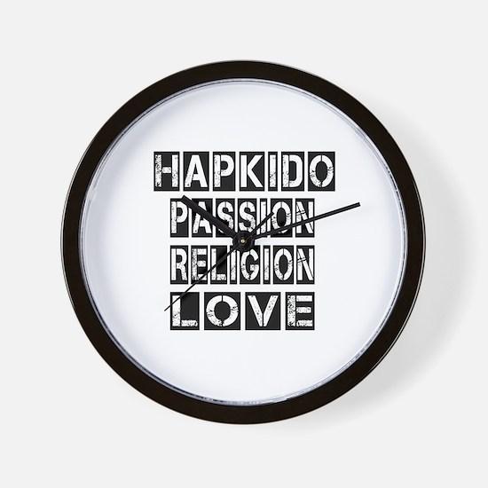 Hapkido Passion Religion Love Wall Clock