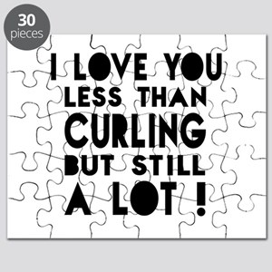 I Love You Less Than Curling Puzzle