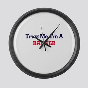 Trust me, I'm a Banker Large Wall Clock