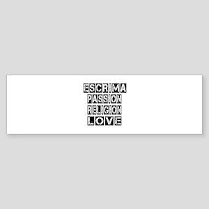 Escrima Passion Passion Religion Sticker (Bumper)