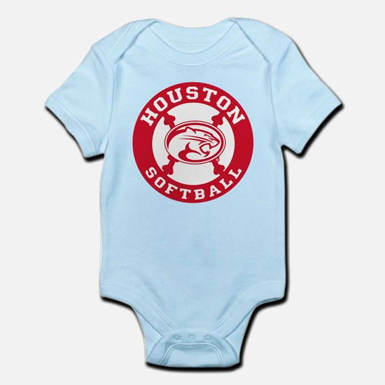 Houston Softball Baby Light Bodysuit