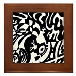 Robot Dreams framed tile art