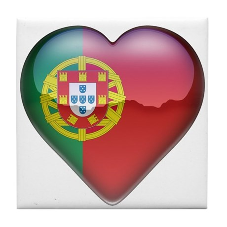 Portugal Heart Tile Coaster