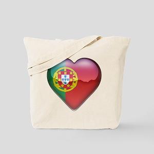 Portugal Heart Tote Bag