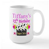 13th birthday Large Mugs (15 oz)