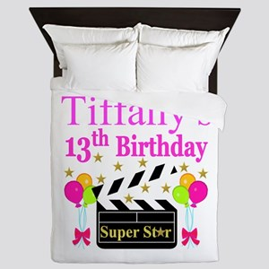 PERSONALIZED 13TH Queen Duvet