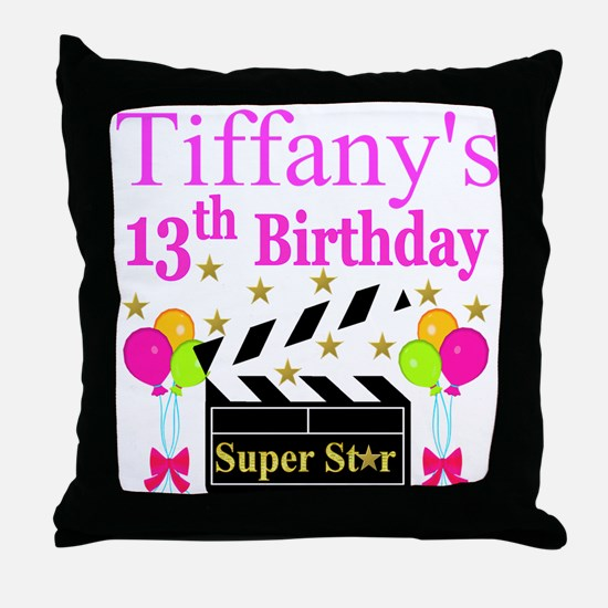 PERSONALIZED 13TH Throw Pillow
