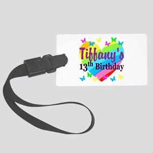 PERSONALIZED 13TH Large Luggage Tag
