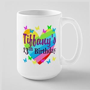 PERSONALIZED 13TH Large Mug
