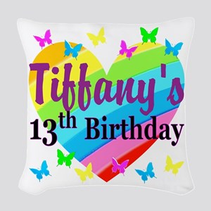 PERSONALIZED 13TH Woven Throw Pillow