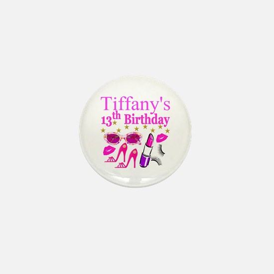 PERSONALIZED 13TH Mini Button