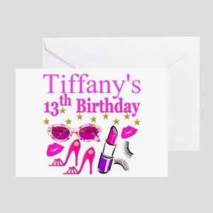 Personalized princess birthday greeting cards cafepress personalized 13th greeting card m4hsunfo